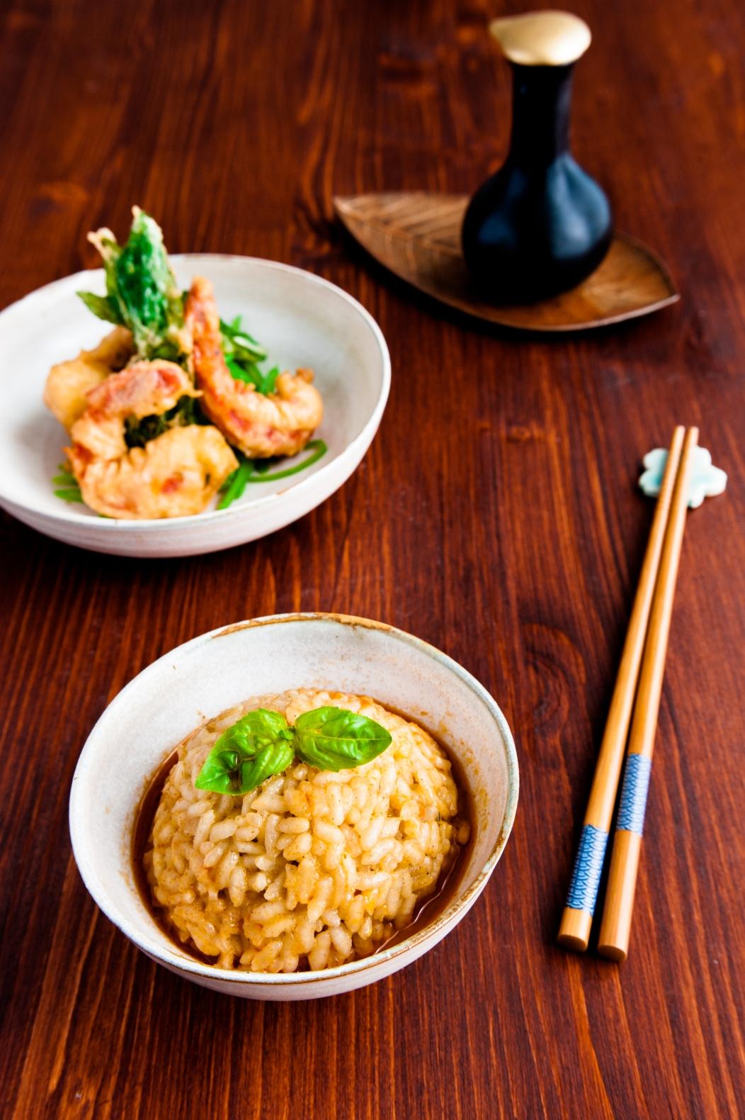 Thai Curry-Risotto mit Tempura-Garnelen (1 von 1)