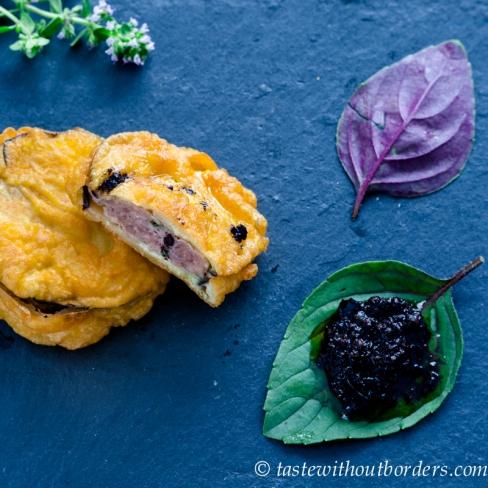 Auberginetäschchen mit Fleischfüllung