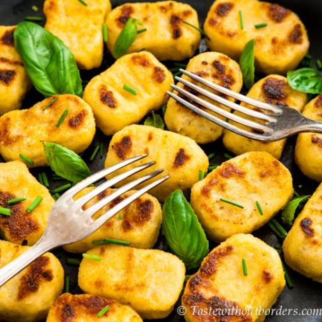 Mit Shiitake gefüllte Gnocchi