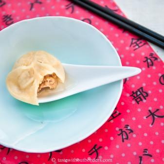 Mit Suppe gefüllte Bao