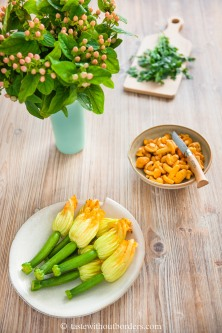 Pfifferlinge-Risotto mit Tempura Zucchiniblüten_2