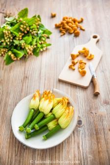 Pfifferlinge-Risotto mit Tempura Zucchiniblüten_4